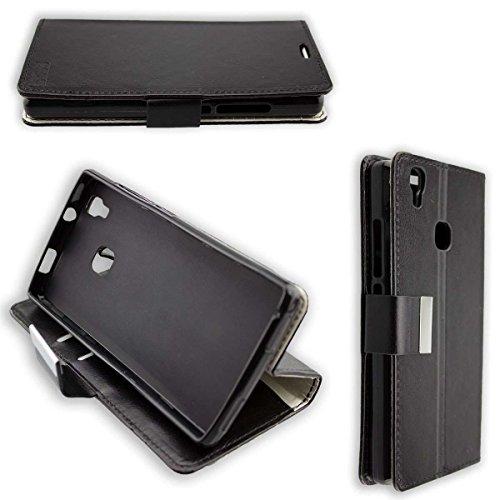 caseroxx Hülle/Tasche Bookstyle-Case Doogee X5 Max Pro Handy-Tasche, Wallet-Case Klapptasche in schwarz