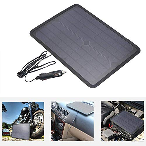18V10W Solar Ladegerät Autobatterie Ladekarte, Outdoor tragbare Solar Ladekarte, für Auto Motorrad Traktor Boot RV Batterien