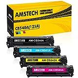 Amstech 4 Pack Kompatibel Toner für HP 125A CB540A CB541A CB542A CB543A für HP Laserjet CP1515N CP1215 1215 CM1312NFI MFP CM1312 CP1515 CP1518NI Canon Isensys LBP5050 MF8050CN MF8080CW MF8040CN Toner