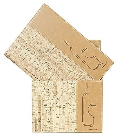 Vermes Securit Design Boîte Range-menus avec 10 listes A4 à 1 pochette Double chacune Liège