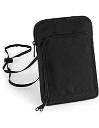 Bag base - grande pochette tour de cou papiers passeport voyage - BG48 - noir