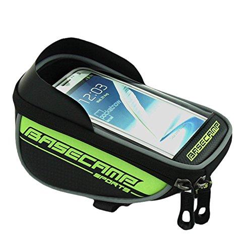Radfahren Taschen Paar HEAD Tube Rahmen Tasche Halter Lenkertasche für für 14cm Handy Grün