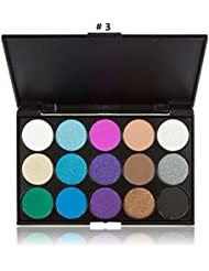 LyDia® 15 COLOURS EYESHADOW PALETTE Smokey Eye Matte and Shimmer Effect Neutral Nude/White Highlight/Brown/Black/Chocolate/Purple/Blue/Green/Grey