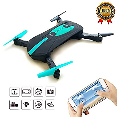 WIFI Mini Portable Quadcopter Drones with FPV HD Camera Pocket Drone 2.4 GHz 3D Flip Quadcopter Headless Mini Foldable