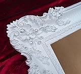 Bilderrahmen Rahmen Weiß / Silber Dualcolor 96x57 cm Hochzeitsrahmen Fotorahmen Antik Barock Rokoko Repro Shabby Chic RENAISSANCE JUGENDSTIL RETRO DESIGN MIT ORNAMENTVERZIEHRUNGEN LUXURIÖS PRUNKVOLL