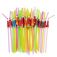 50 Umbrella Parasol Drinking Straws, Hawaiian Beach Cocktail Luau Party Decorations Supplies