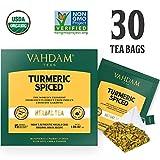 Té chai de cúrcuma - 30 bolsas de té, 100% natural y détox - Receta curativa de la India - SÚPERALIMENTO TRADICIONAL DE LA INDIA, polvo de cúrcuma con especias frescas (2 cajas, 15 bolsas de té/caja)