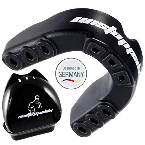 Unstoppable Mundschutz | Profi Zahnschutz | Box + Anleitung Designed in Germany | BPA Frei | Kampfsport, Boxen, MMA, Rugby