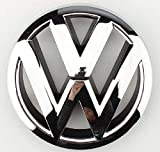 #10: 3 Locks Volkswagen 12 cm Polo Vento Logo Emblem Badge Front Grill Chrome