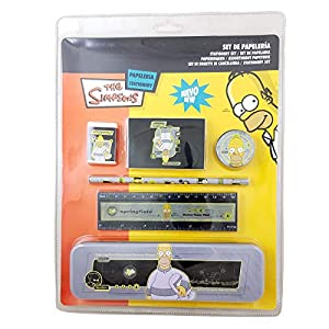 Set Papeleria Bart/Homer Simpson, 1 a elegir, 25cms X 33 cms. En Blister.