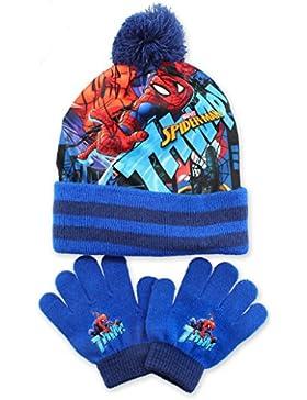 SPIDER-MAN, MARVEL - Set de bufanda, gorro y guantes - para niño Azul azul