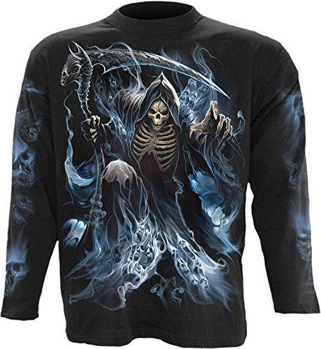 Espiral–para hombre–fantasma Reaper–Camiseta de manga larga, color negro - negro -