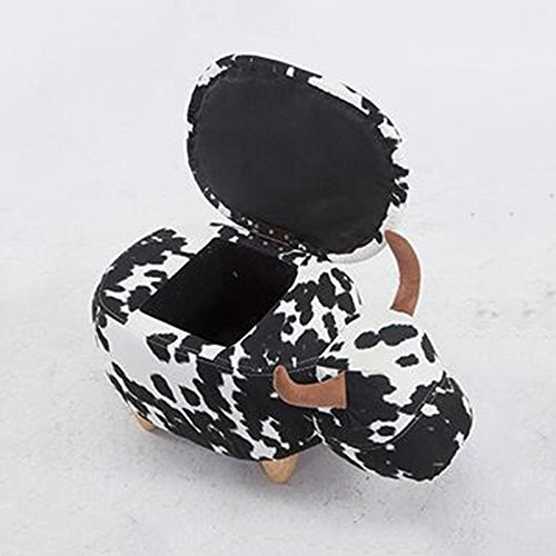 Stool Health UK Hocker Brown Holzablage Hocker Cute Animal Rhino Fußstütze Hocker 4 Beine Schuhe Hocker Eintritt Sofa Hocker Finishing Box Welcome (Farbe : Cow color) Brown-leder-bücherregal