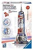 Ravensburger 12583 - Flag Edition Empire State Building - 3D Puzzle-Bauwerke, 216 Teile