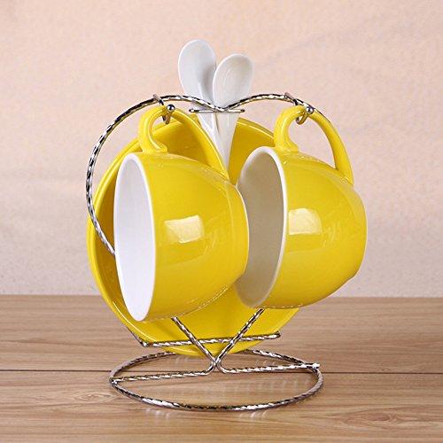 Coupe de café en céramique haute capacité / 2 tasses 2 Set de disques / tasse de café cadeau (21 couleurs facultatives) ( couleur : 17# )