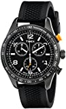Timex Men's Originals T2P043 Black Silicone Analog Quartz Watch with Black Dial