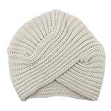 JMETRIC Damen Strickmütze | Beanie Mütze |Kreuzkappe|Wintermütze|für warme Ohren|Grobstrick Strickmütze