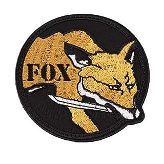 Round Fox Pattern Magic Rucksack Kapitel Paste Epaulet selbstklebende Stick Worldwide Store