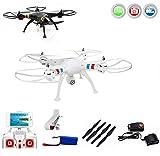 SYMA X8W - Drone quadricottero WiFi con trasmissione foto e video con sistema FPV (First Person View) inclusa copter card