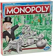 Hasbro Monopoly Classic, klassiskt brädspel för hela familjen för 2 till 6 spelare, för barn från 8 år (engels