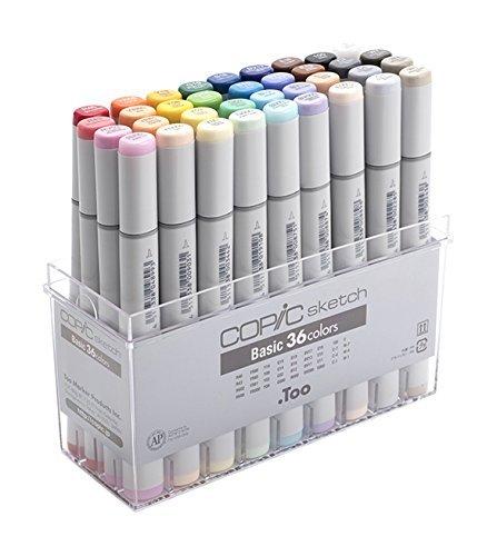 COPIC Sketch Marcador 36Piezas Sketch Conjunto Básico