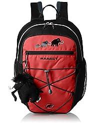 Mammut First Zip Poliéster Negro, Rojo - Mochila para portátiles y netbooks (Poliéster, Negro, Rojo, Monótono, 300 D, Niño/niña, Front pocket,Side pocket)