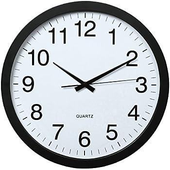Elegant Hama Wanduhr XXL PG 400 Jumbo, Analoge Quarz Uhr Mit Schleichendem Uhrwerk, Extra  Großes Ziffernblatt, 40cm Durchmesser, Geräuscharm Wanduhr Schwarz