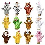 Zeagoo Original Baby Handpuppen-Set aus Plüsch | 12 lustige Handpuppen-Tiere zum Spielen und Lernen