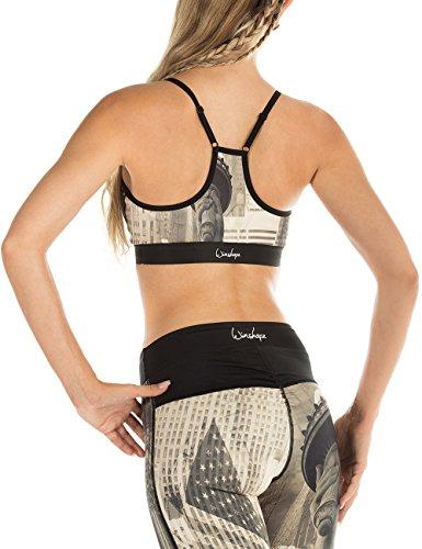 winshape Femme Fitness Loisirs Bustier Functional Push Up de New York avec coussinets amovibles All Fit style soutien-gorge de sport New-York
