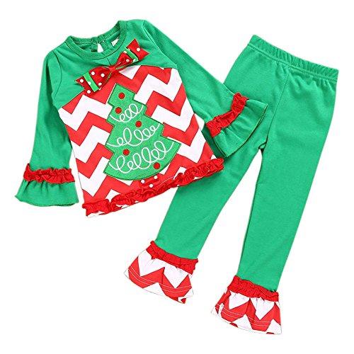 hnachten Polka Dots Party Kostüm Kleid Tutu Kleid Langarmshirts Striped Lange Hosen / Hosen Outfit Set Für 1-6 Jahre Kinder (Brs Kostüm)