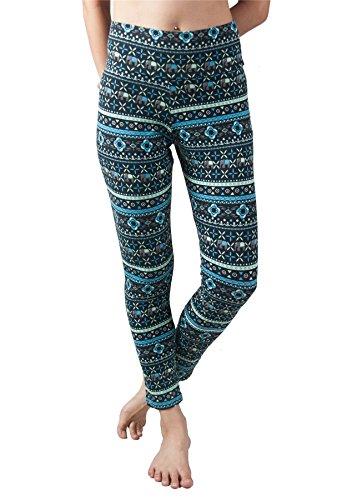 Lofbaz Pantalon de Yoga pour Femmes avec ceinture élastique Design #2 Noir & Blanc M