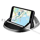 KOBWA 3 in 1 Autotelefonhalter, Universal Anti-Rutsch-Silikon-Armaturenbrett Auto Pad Mat mit Kabel-Slot für iPhone XS/XS MAX/X / 8 Plus / 7 Plus, Galaxy S8 Plus/Hinweis 8/3,0-7 Zoll Telefon & GPS
