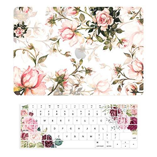 TOP CASE - Gummierte Hartschalentasche + Tastaturabdeckung der Victorian Series Graphics, kompatibel mit MacBook Air 13
