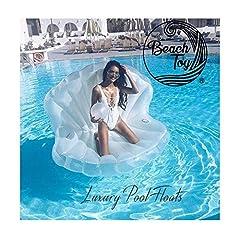 Idea Regalo - beachtoy Materasso Gonfiabile Conchiglia con perla Promo 160x 120x 130cm Taglia XXL