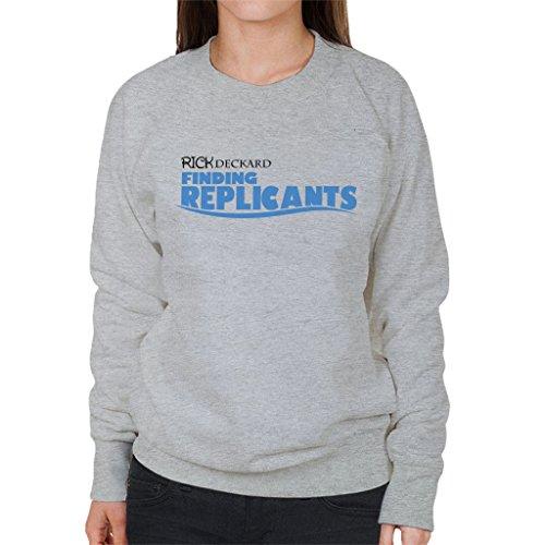 Blade Runner Finding Replicants Finding Dory Mix Women's Sweatshirt Heather Grey