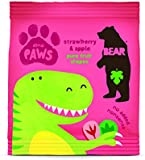 Bear Pure Fruit Paws 20 g (Pack of 18) Dino Strawberry & Apple