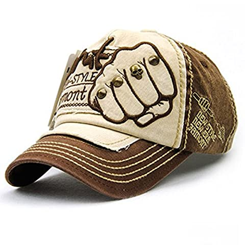 Embroidery Cotton Baseball Cap - iParaAiluRy Outdoor New Style Fashionable Unisex Adjustable Leisure Embroidery Hat for Male and