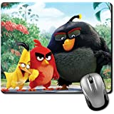 Crazyink Quite Angry Three Birds Premium Printed Designer Mouse Pad | 22Cm By 18 Cm| Gaming Mouse Pad | Hd Printing | Ultimate Grip | Waterproof Coating | Game Lovers | Perfect For Home & Office | Anti Skid | Slim Light Weight.
