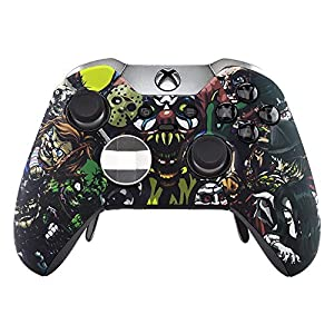 eXtremeRate The Great Wave Patterned Front Housing Shell Faceplate for Xbox One Elite Controller Model 1698 with…