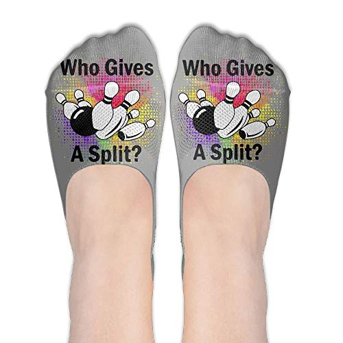 Doormat-bag Funny Who Gives A Split Bowling Womens Performance Comfort Fit No-Show Socks. -