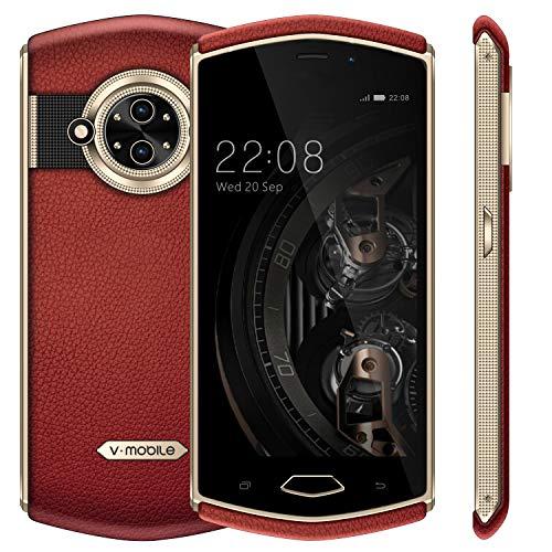 """Telefonos Moviles Libres v·mobile 8848 Movil (5"""" 3GB RAM 32GB ROM Cámara de 13MP+5MP Android 7.0 Dual SIM 3G+ 3200Amh GPS Bluetooth WiFi) Smartphone Libre (Rojo)"""
