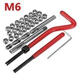 KUNSE 30Pcs Beschädigte M6 Thread Repair Tool Kit Reparatur Recoil Insert Kit
