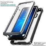 Samsung Galaxy S8 Plus Hülle i-Blason Ares Handyhülle 360 Grad Case Robust Schutzhülle Transparent Cover mit eingebautem Displayschutz für Galaxy S8 + Plus, Schwarz