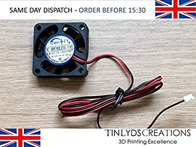 12v dc brushless extruder fan 4010 c/w 1 metre cable (0.10a) ANET A8 by tinlydscreations