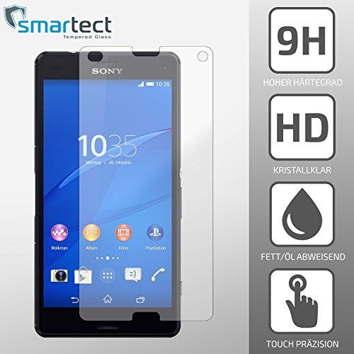 smartect® Sony Xperia Z3 COMPACT / MINI Panzerglas Display-Schutzfolie aus...