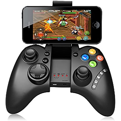 NIUTOP Wireless Bluetooth 3.0 Game Controller Gamepad Joystick Touch Pad per Huawei Ascend G620s, Huawei Ascend P7 mini Huawei Ascend Y550 G7 G6 P7 G610 G750 Honor 3C Mate 7 Honor 4X Honor 6, Apple iphone 6 plus, 6 5S 5 5C 4S 4, Samsung Galaxy S6 S5 S4 S3, iPad Air, iPad mini, Sony Xperia, HTC One M8 M9 Moto E G X Google Nexus 4 5 6 LG G2 G3 Xiaomi note altri smartphone e Tablects PC con Android IOS (PG-9021 nero)