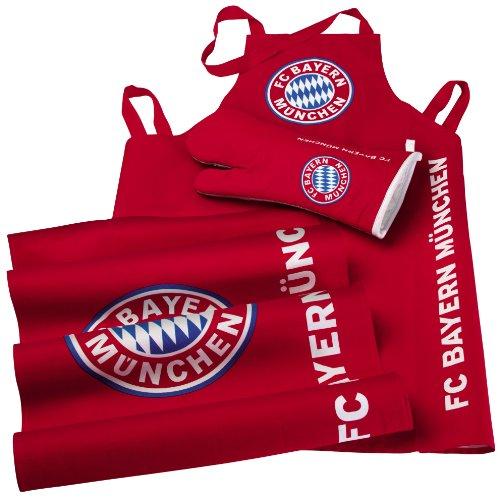 Brauns FC Bayern Grill-set 3-teilig, rot, 45010 (Grill Fahne)