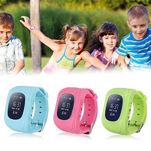 Rosepoem Rastreador GPS de los niños SmartWatch Reloj Inteligente para Niños Anti-Perdida Sos Tarjeta SIM de Reloj Control de Padres por Smartphone Perseguidor de la localización del Reloj