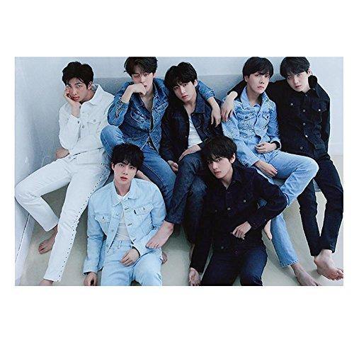 Yovvin BTS Poster, Kpop Bangtan Jungen Love Yourself: Tear Jungkook Jimin V  Suga Jin J-Hope Rap Monster Wanddekoration Wandaufkleber Wandtattoo,