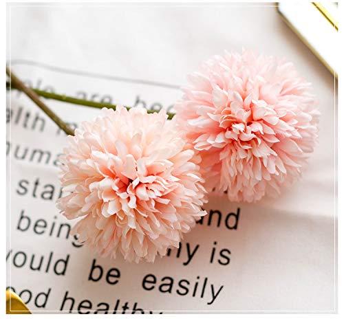 Flores artificiales Ruiuzi, flores artificiales de seda, 6 cabezas de hortensia artificial, ramo de boda para el hogar…